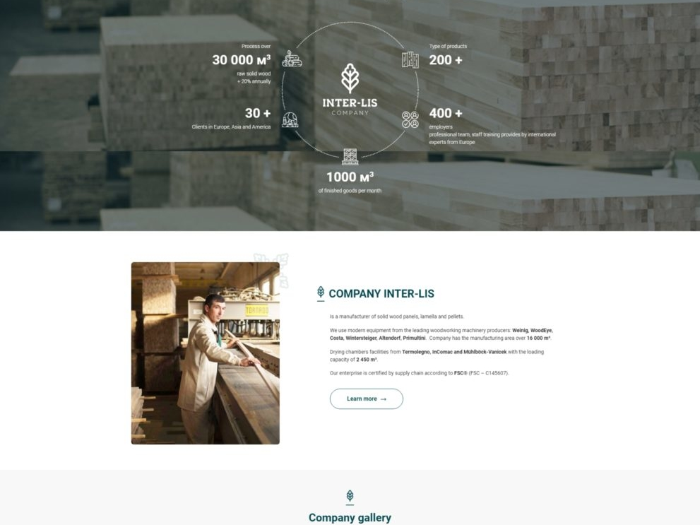 Website development INTER-LIS LTD